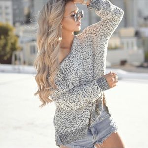 Tops - Cozy Popcorn Knit Pullover Hoodie